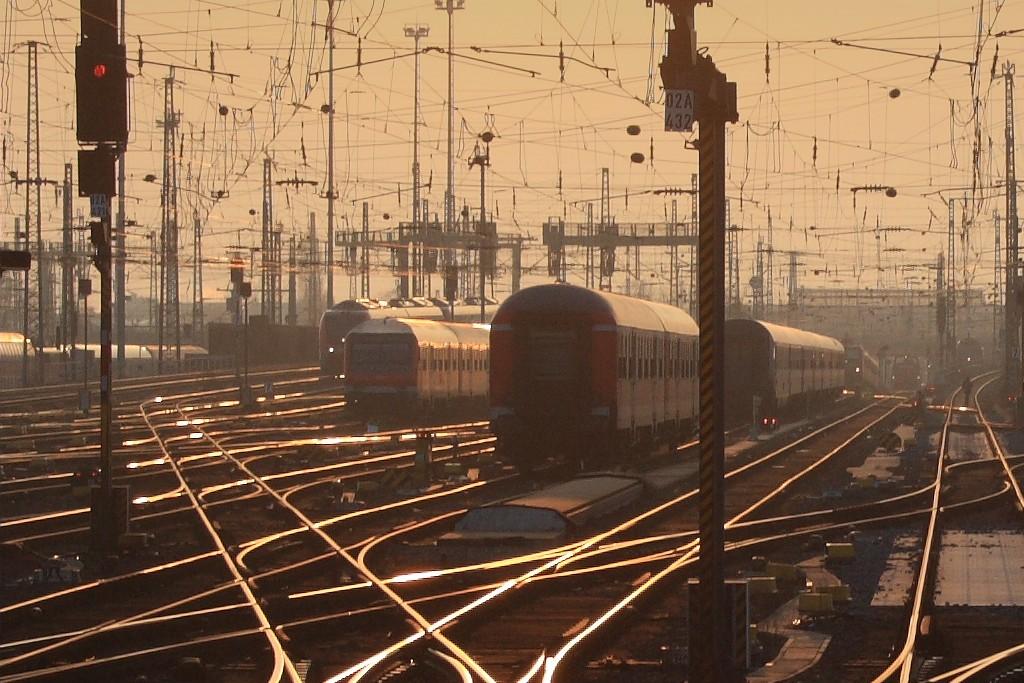 Gleise beim Frankfurter Hauptbahnhof