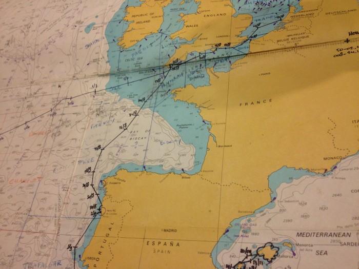 Ausschnitt einer Seekarte